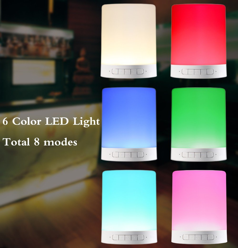 Kaito YM-388 Wireless Bluetooth Speaker, with MP3 Player, SD Card Music Storage and Dimmable Multicolor LED Touch Lamp