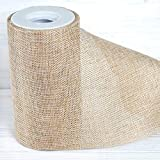 Tableclothsfactory 6' x10 Yards Natural Polyester Fine Rustic Burlap Jute Roll for Wedding Event Party Decorations DIY Arts and Crafts