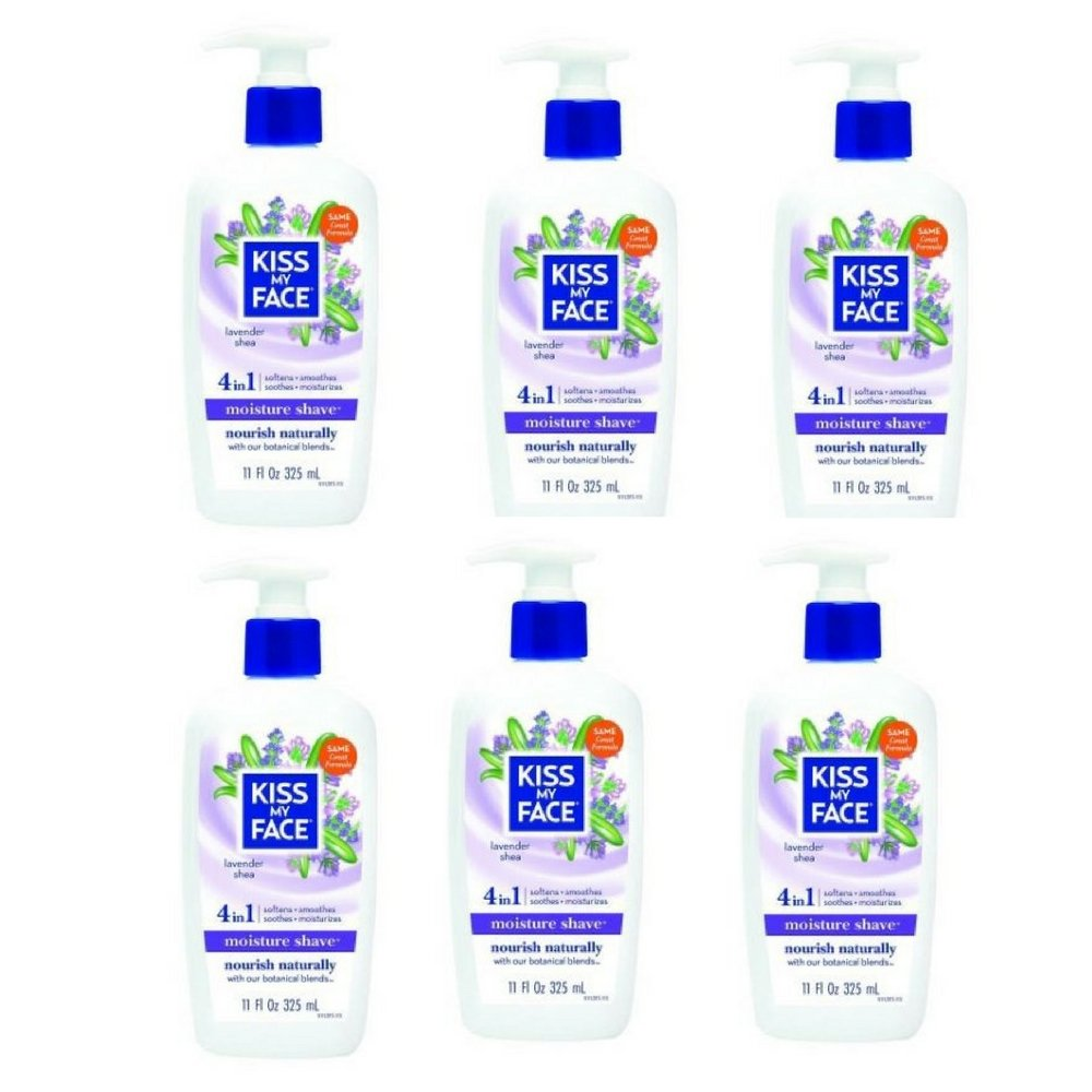 Kiss My Face - Lavender And Shea Moisture Shave, 11 fl oz cream (6pack)