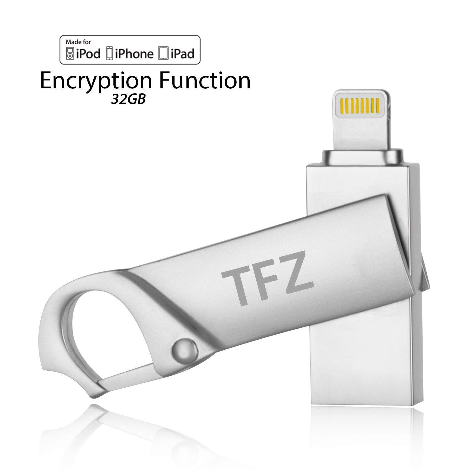 i Flash Drive USB Memory Expansion Stick 32GB [Apple MFI Certified] TFZ  High Speed Pen Drive External Storage For Apple iPhone iPad Mac PC and iOS