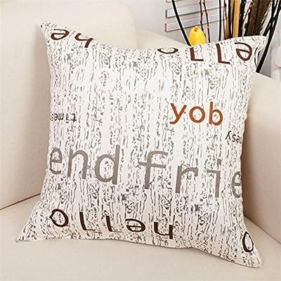 FairyTeller Home Decorative Sofa Cushion Cover Throw Pillow Case Cotton Friend 45Cm Capas De Almofada
