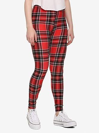 d5c286e58065b Amazon.com: Red Plaid Leggings: Clothing