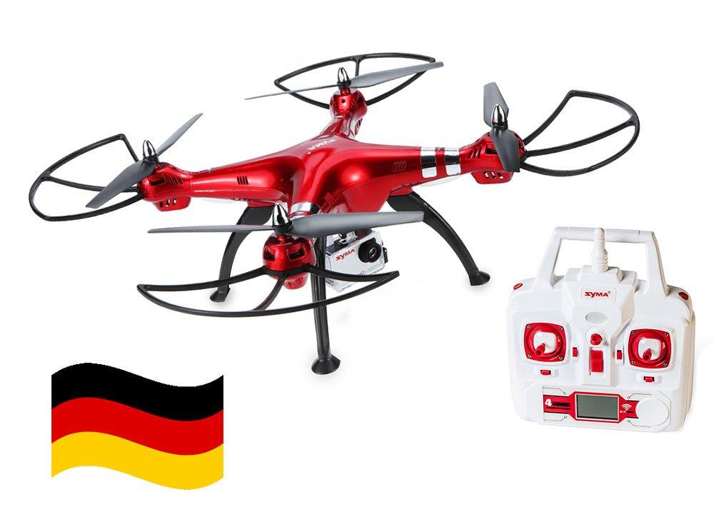 Deutschland Syma X8HG XXL Drohne RC Quadcopter 2,4GH 6 Axis 4CH 8MP HD Kamera Headless 3D 360°