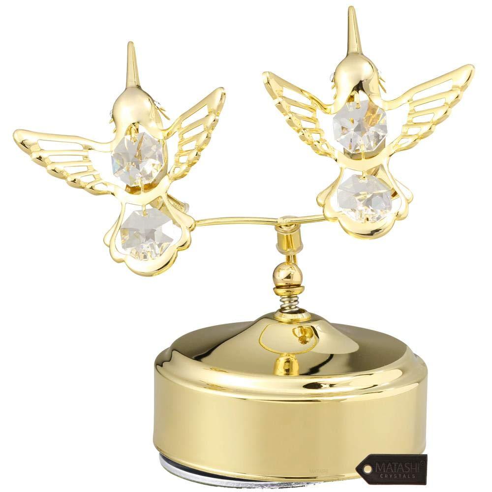 (訳ありセール 格安) 24 Kゴールドメッキ音楽ボックスwith Crystal B014PSLUU6 by Studded Hummingbird Figurine by Matashi Hummingbird Double ゴールド MCTMG3008 B014PSLUU6 S Double Hummingbird Double Hummingbird|S, Office idea:f447f4a6 --- arcego.dominiotemporario.com