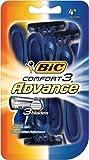 BIC Comfort 3 Advance Disposable Razor, Men, 4-Count (Pack of 3)