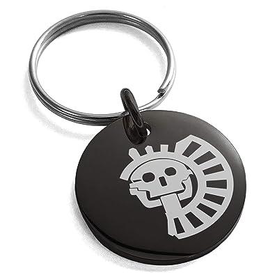 Amazon.com: Llavero de acero inoxidable con símbolo de la ...