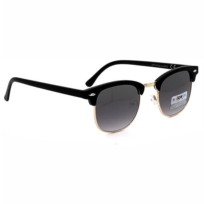 Occhiali Da Sole Uomo Marca Isurf Piu' Modelli Disponibili Con Montatura Nera Lente Nera / Neri (mod. Clubmaster) YkBAvn69mt