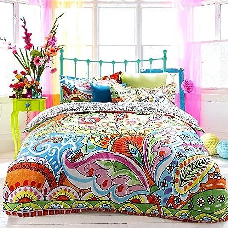 Norson Unique Bedding Exotic Ethnic Barcelona Modern Duvet Cover Gorgeous Active Print Bed Set Queen King 4pcs King