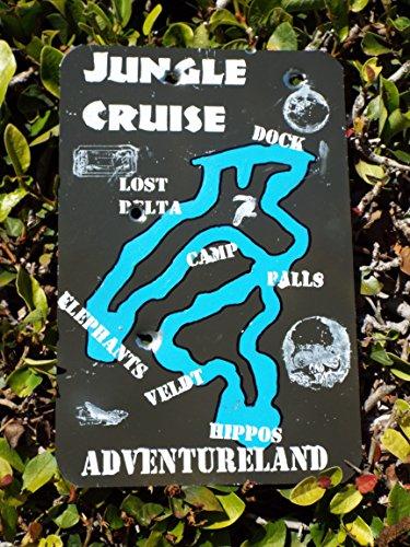 Jungle Cruise Map - Disneyland inspired Jungle Cruise Map - Hut Jungle