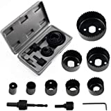 KetZeal Metal Wood Hole Saw Cutter Set (Multicolor, 11-Pieces)