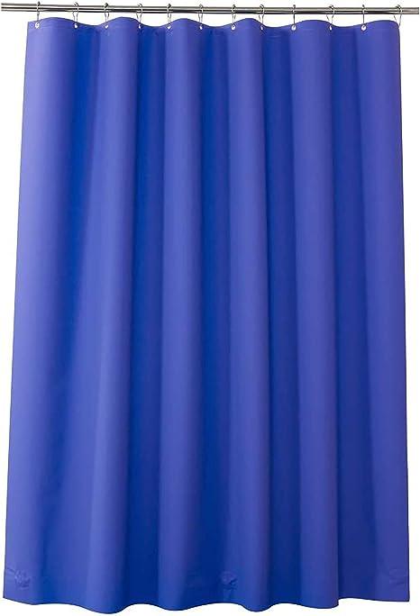 72/'X72/' Vintage Solid Beige Wave Bathroom Shower Curtain w// Vinyl Liner Plastic!