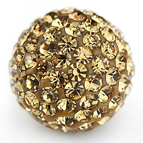 (RUBYCA Pave Czech Crystal Disco Ball Clay Beads fit Shamballa Jewelry (20pcs, 8mm, Light Colorado))