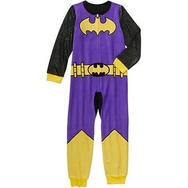 Amazon.com  DC Comics Batgirl Girls  One Piece Pajama Sleeper Set ... cafaa9407