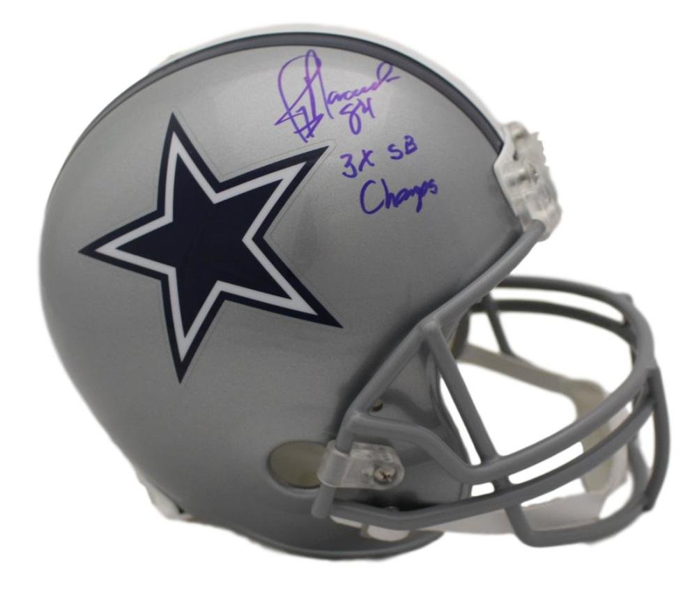 Jay Novacek Autographed/Signed Dallas Cowboys Replica Helmet 3x Champ JSA
