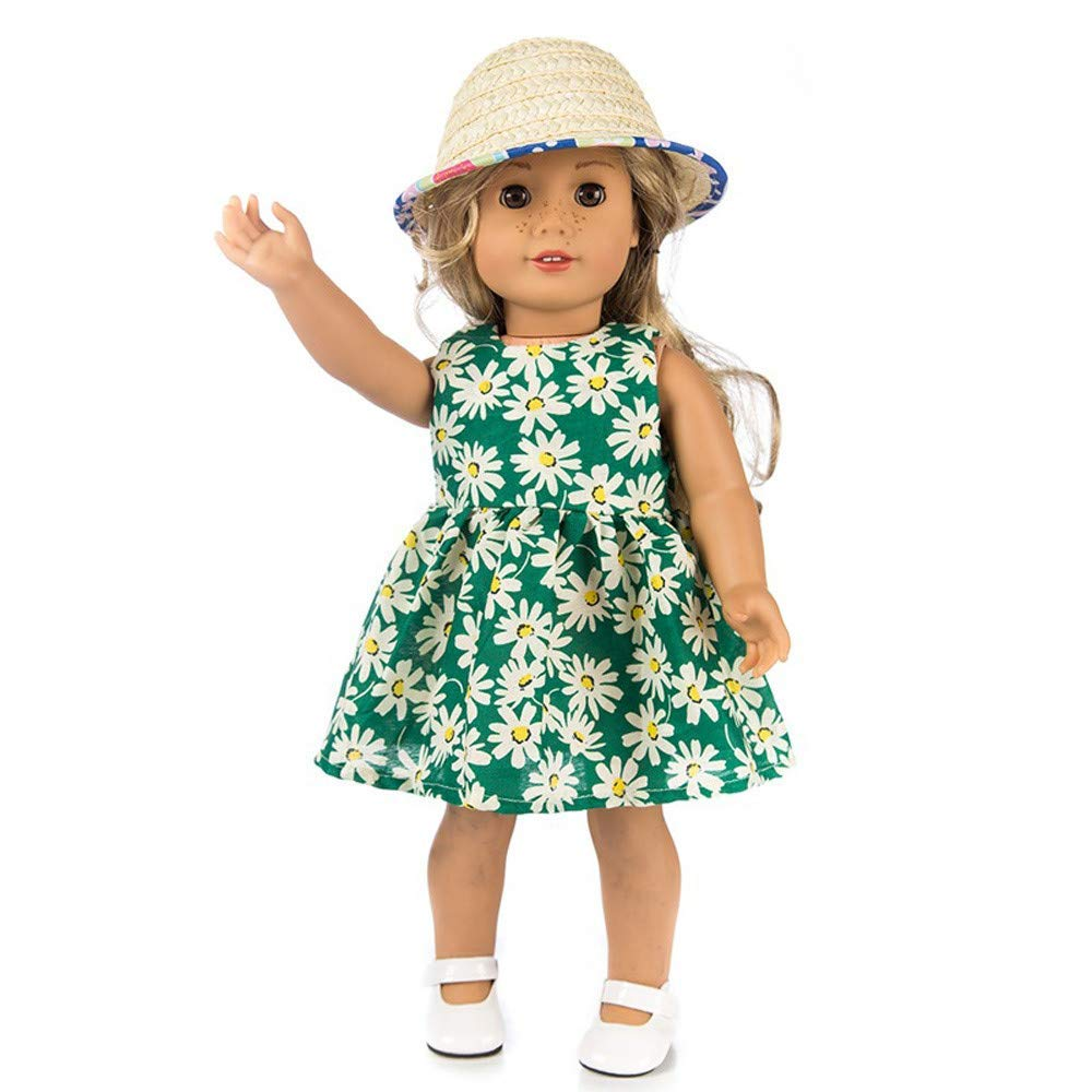 GIVBRO Doll Clothes Dress Girl Toy for American Girl of 18 Inch Doll Accessory 1pcs Orange