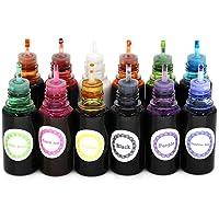 12 Colors Epoxy UV Resin Color Dye Colorant Liquid Pigment,10ml Each,Translucent