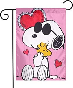 Snoopy Love Peanuts Garden Flag Home Outdoor/Indoor Yard Flag 12 X 18 Inch
