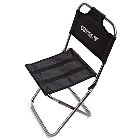 Taburete Plegable ParaCity para Camping, sillas de Aluminio Ligero, Silla pequeña portátil para Pesca, Senderismo, Camping, Picnic, Viaje, Folding ...
