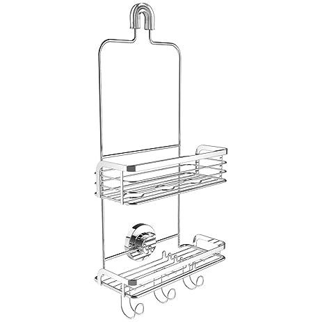 Vidan Home Solutions Modern Hanging Shower Caddy | Stainless Steel  Rustproof | 2 Tiers Of Shelves