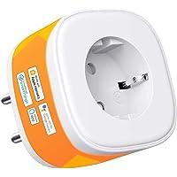 HomeKit wifi-stopcontact, Smart Plug, compatibel met Siri, Alexa, Google Assistant, spraakbesturing en instelbaar…