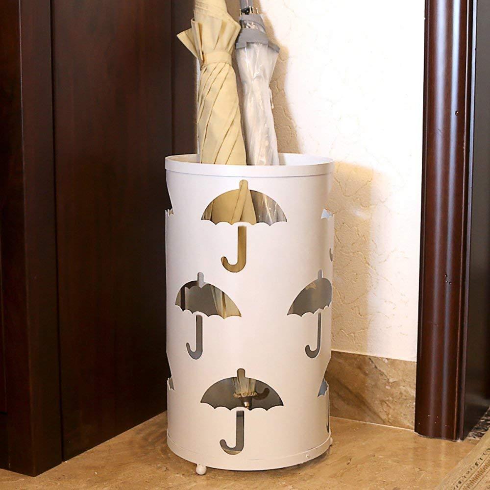 O/&YQ Portaombrelli Beige Rotondo Tondo Creativo in Ferro Battuto Stile Europeo Retro Hotel Ingresso Casa Ombrellone Ripiano Pavimento Piccolo Porta Ombrelli Portaoggetti