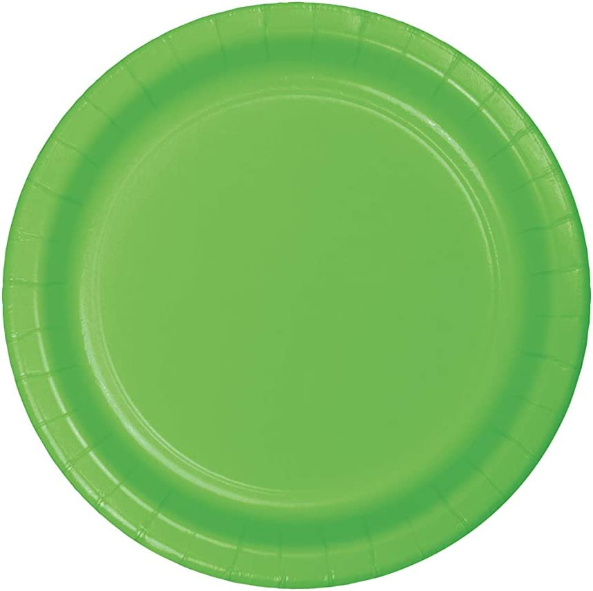 Creative Converting Touch of Color 24 Count Paper Dinner Plates, Fresh Lime