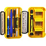 Professional Repair Tool Kit 21 Pieces with Opening Pry Bars, Torx, Ratchet Handle, Precision Magnetic Driver Bits for iphone 5 5 S 6 6 Plus 6S 7 7 Plus 8 8 Plus X, Laptop, and More