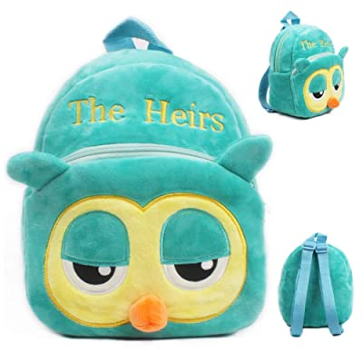 Alician Lovely Breathable Lightweight Green Owl Soft Plush Backpack Bag for Baby Kids Children: Toys & Games