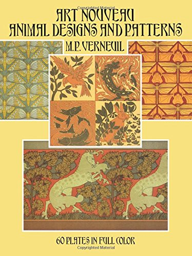 Art Nouveau Animal Designs and Patterns: 60 Plates in Full Color (Dover Pictorial Archive)