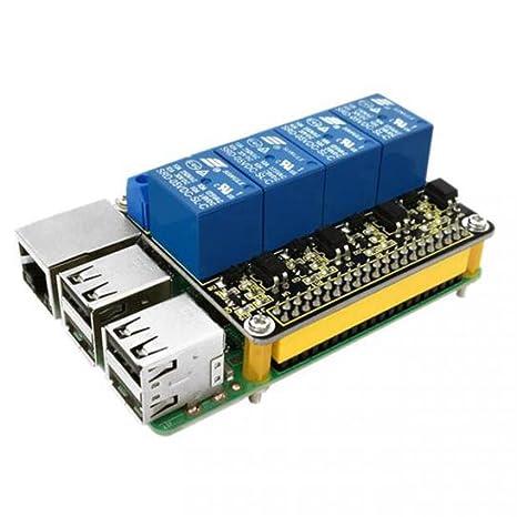 2 stücke RPI 4 Kanal Relais Board Modul 5 V Relais Schild für Raspberry Pi