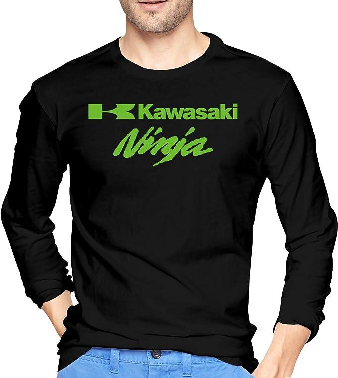 Hengteng Mens New Tee Vector Ninja Kawasaki Long Sleeve ...