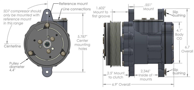 Holley 199-102 A//C Compressor