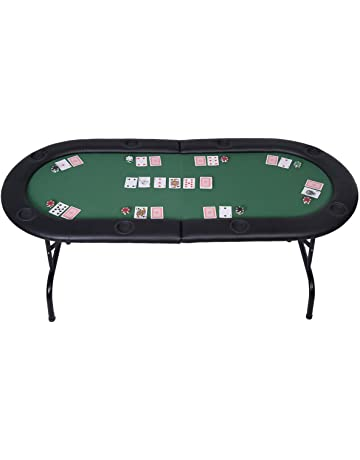 58ce189da Mascarello® Foldable 8 Player Poker Table Casino Texas Holdem Folding Poker  Play Table