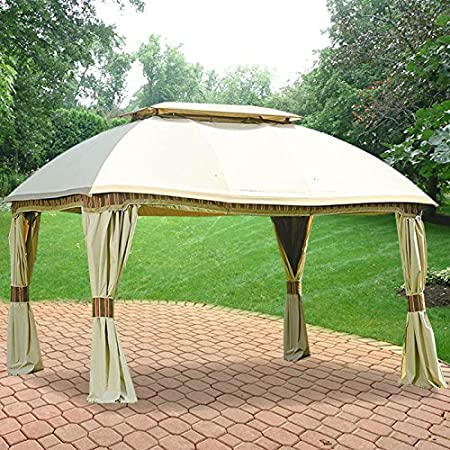 Amazon Com Garden Winds Replacement Canopy For The Sam S Club Domed Gazebo Riplock 350 Beige Garden Outdoor