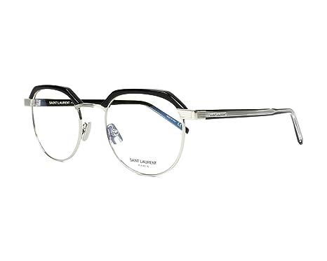 2b06a18545c Image Unavailable. Image not available for. Color  Saint Laurent SL 124  BLACK BLACK Eyeglasses