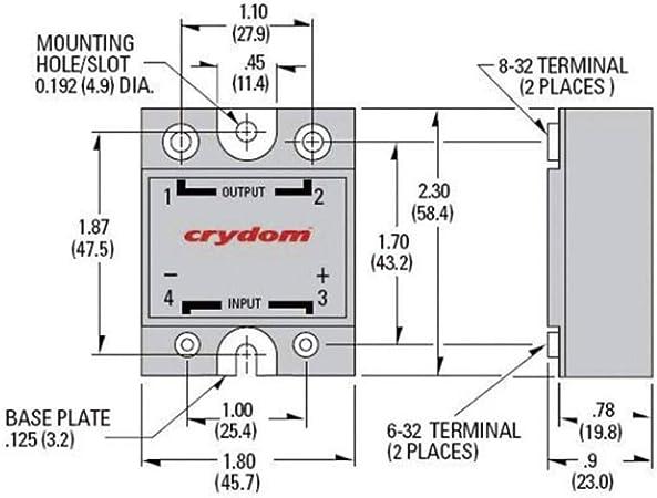 Crydom Halbleiterrelais D2425 10 Last Strom 25a Elektronik