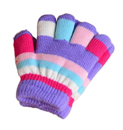 35e4679377309 Image Unavailable. Image not available for. Color  DRAGON SONIC Multicolor  Winter Warm Knit Gloves Plush-lined ...