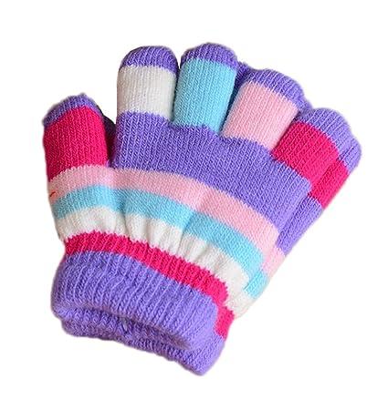 Amazon Dragon Sonic Multicolor Winter Warm Knit Gloves Plush
