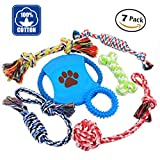 Nolsen Dog Chew Toys Rope Puppy Toy Pet Gift Set Durable Cotton Clean Teeth for Small and Medium Dogs 7 Pack