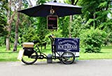 ice cream cart for adults - OFILA Ice Cream Cart Backdrop 8x6.5ft Vehicle Bicycle Photos Traditional Ice Cream Summer Background Lane Kids Party Decoration Outdoor Parasol Preschool Activity Children Shoots Video Studio Props