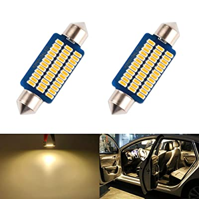 LED Dome Light 41mm 42mm 211-2 569 578 Bulb Warm White 5000K 3014 SMD for Cars Map License Plate Trunk Interior Lights Lamp Replacement Festoon super Bright 12V 3W 1 Year Warranty 1.65in 2 Pack【1797】: Automotive