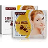 MOND'SUB(Pack of 5 x 60g) Gold Brightening, Moisturizing & Antiwrinkle Facial Mask Sheets