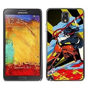 YiPhone /// Prima de resorte delgada de la cubierta del caso de Shell Armor - Motos Anime - Samsung Note 3 N9000