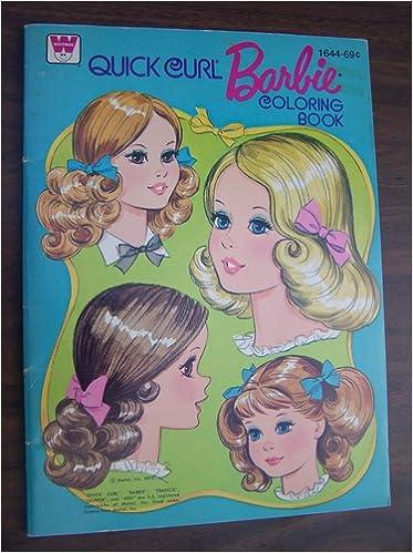 Quick Curl Barbie Coloring Book Amazon Books