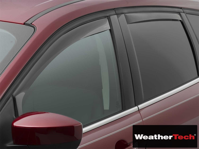 Brightt (WEA-HRG-364) Side Window Deflector Visor Rainguard 4 pc. Dark Tint - fits Ford Escape - 2013 2014 2015 2016 2017 2018 | 13 14 15 16 17 18