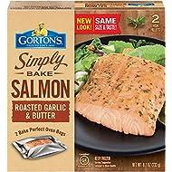 Gorton's, Simply Bake Roasted Garlic & Butter Salmon, 8.2 oz (Frozen)