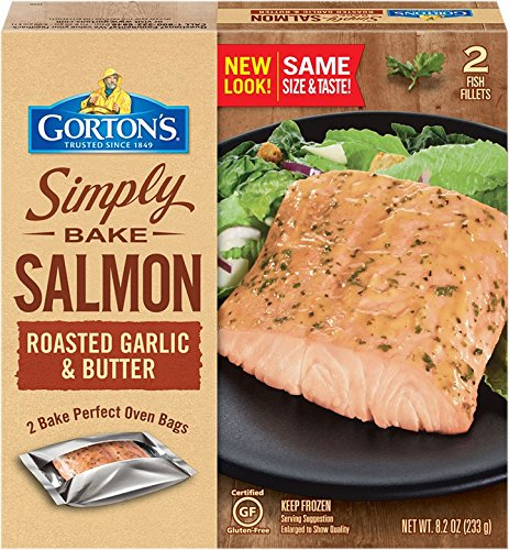 Gorton's, Simply Bake Roasted Garlic & Butter Salmon, 8.2 oz (Frozen)