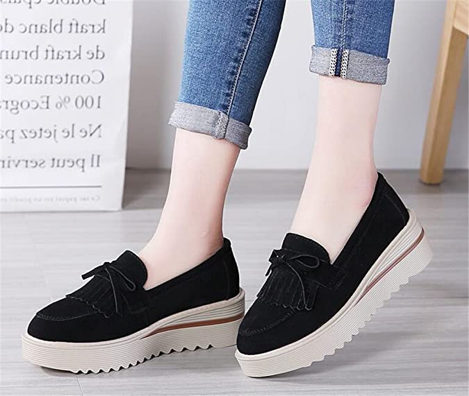 Y.verve - Mocasines para Mujer, Color Negro, Talla 39 EU Mujer: Amazon.es: Zapatos y complementos