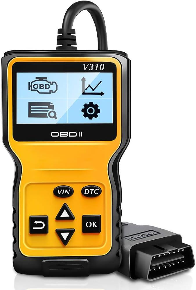 NWOUIIAY OBD2 Coche Diagnósticos Portátil con Standardem de 16 Pin Interfaz para Todos los Vehículos a Partir del 2000 con Protocolos OBD II Lectura y Borrado de Códigos de Error