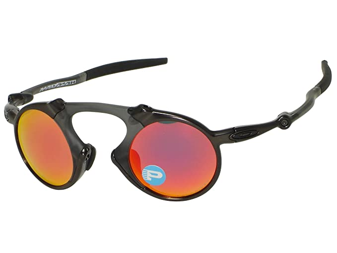 7b9e4b2470 Image Unavailable. Image not available for. Colour  Oakley Madman OO6019-04 Dark  Carbon   Ruby Iridium Polarized Sunglasses